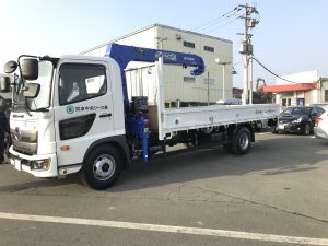 【車両入庫】日野/4tクレーン付トラック