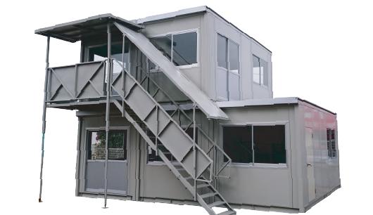 2階建連棟ハウス レンタル商品 熊本中央リース