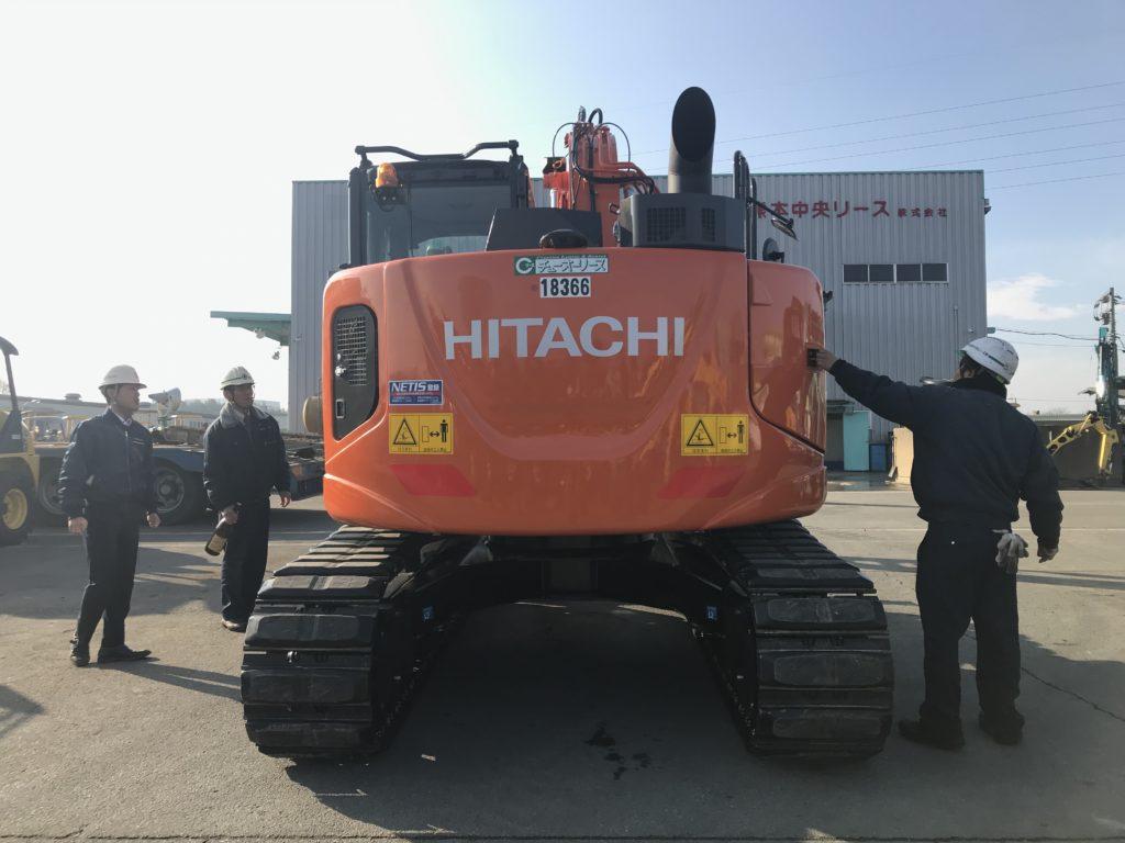 新着 納車情報 0.45バックホー HITACHI/ZX135US