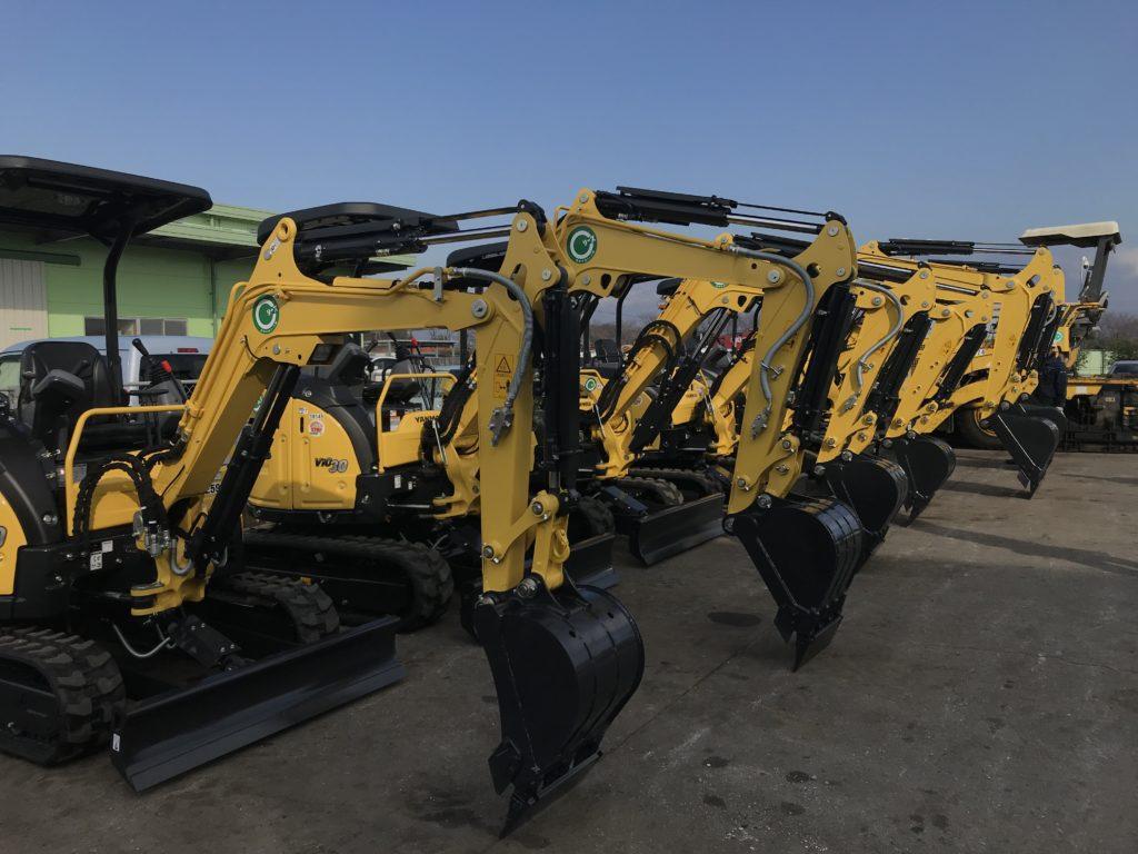 新着 納車情報 ミニバックホー YANMAR/Vio20・Vio30・Vio45