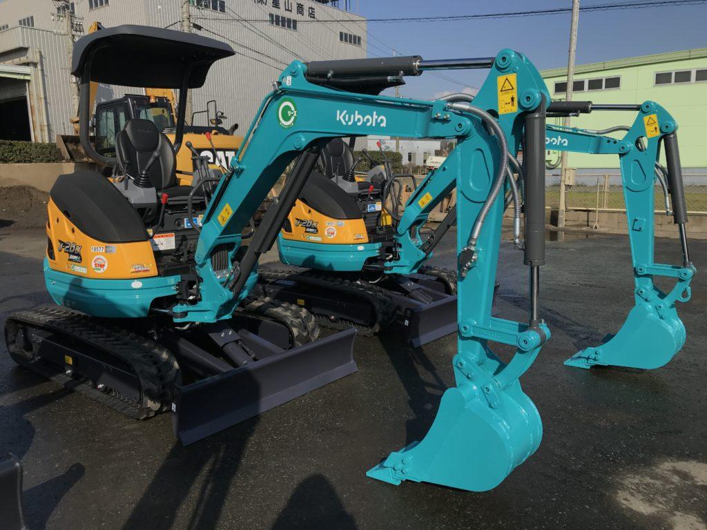 新着 納車情報 ミニバックホー クボタ Kubota/U-20・U-30・RX306