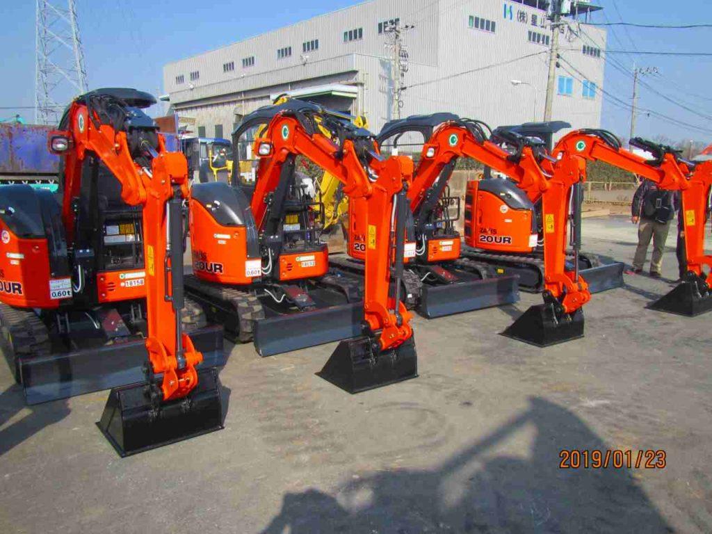 土木機械 日立の0.1バックホー 新着 納車情報 HITACHI/ZX20