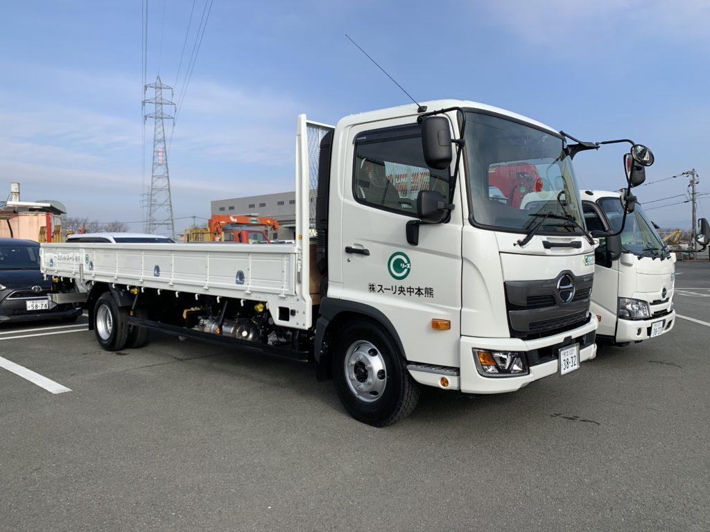日野4t平トラック ETCとドライブレコーダー搭載車