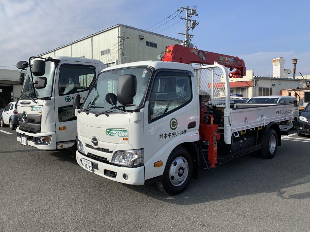 日野/2tクレーン付きトラック ETCとドライブレコーダー搭載車